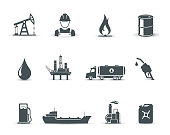 Oil and petroleum industry icons