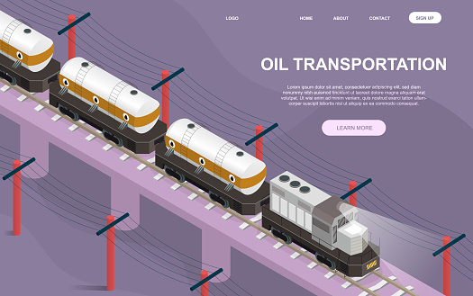 Oil and petroleum products transportation concept