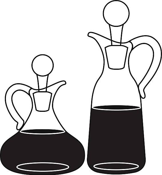 öl und essig-flaschen - dressing stock-grafiken, -clipart, -cartoons und -symbole
