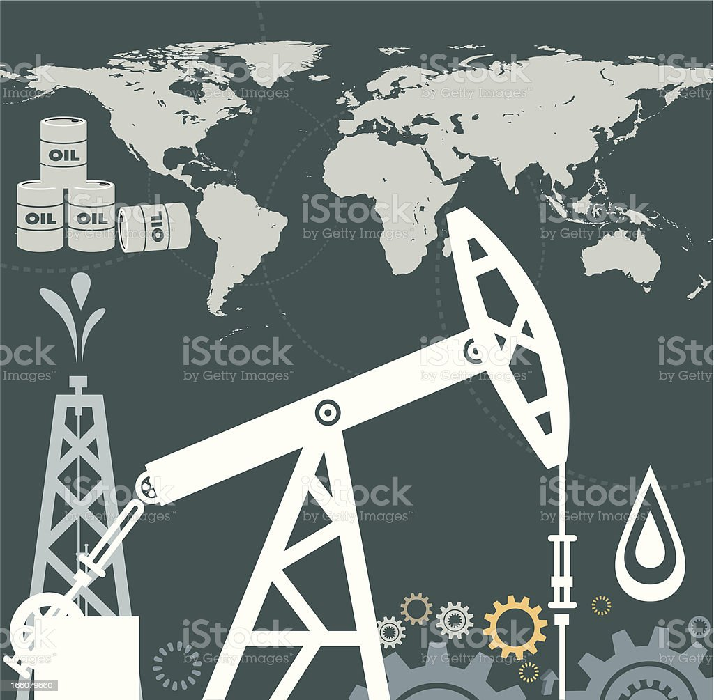 Oil and World royalty-free oil and world stock vector art & more images of black color