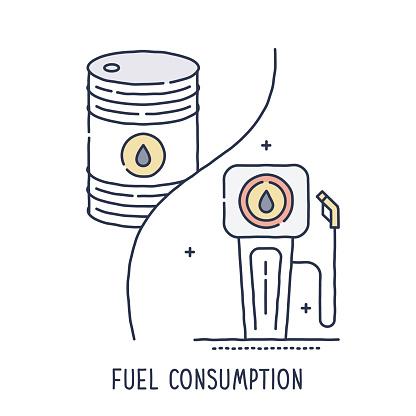 Oil Barrel and Fuel Pump Symbol