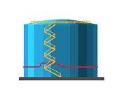 Oil barrel capacity tank vector.