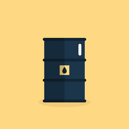 oil barrel flat icon illustration
