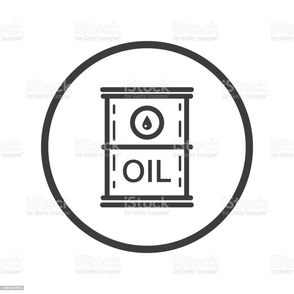 Ölfasssymbol In Den Runden Rahmen Stock Vektor Art und mehr Bilder ...