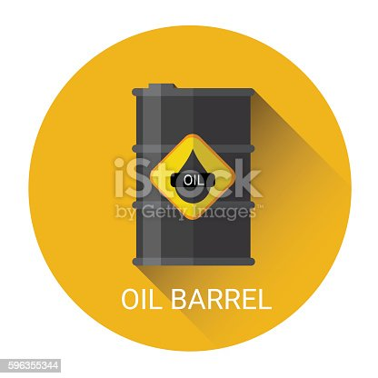 Oil Barrel Icon Stock Vector Art & More Images of Backgrounds 596355344