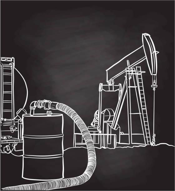 Oil Barrel vector art illustration