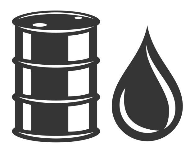 Oil barrel Oil barrel isolated on white background oil drum stock illustrations