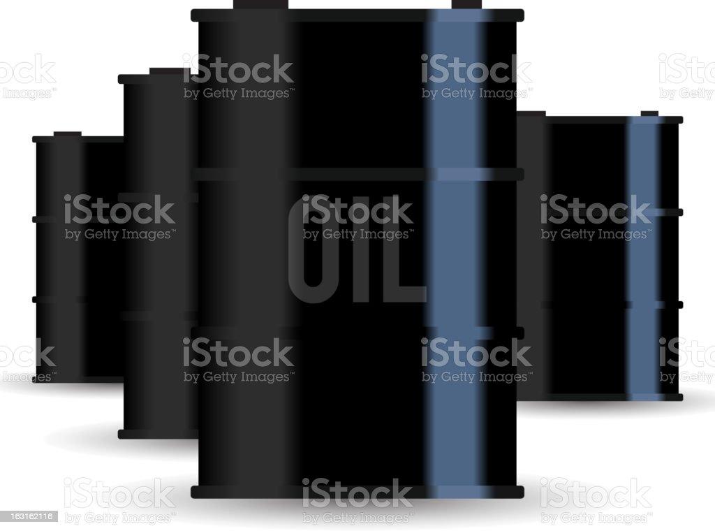 Oil Barrels royalty-free stock vector art