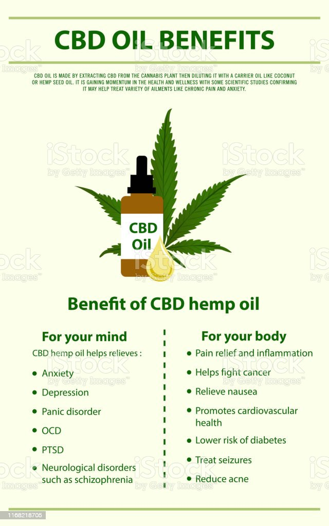 Cbd Oil Benefits Vertical Infographic Stock Illustration Download Image Now Istock