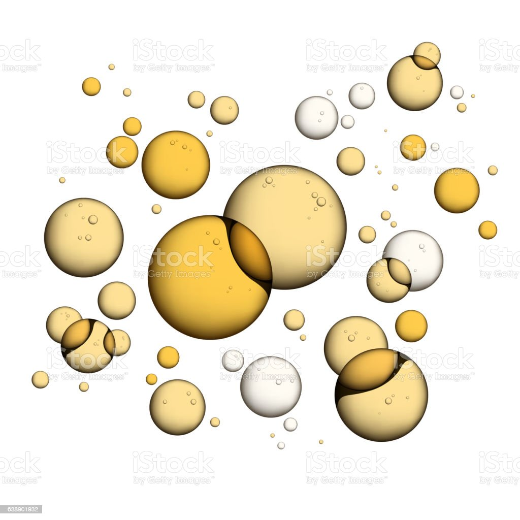 Oil Bubbles Isolated on White vector art illustration