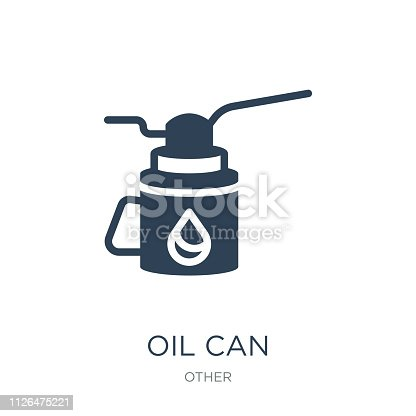 oil can icon vector on white background, oil can trendy filled icons from Other collection