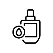 oil cosmetic bottle icon vector. oil cosmetic bottle sign. isolated contour symbol illustration