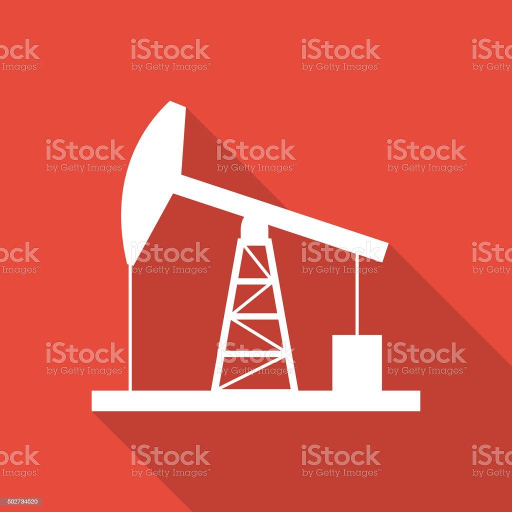 Oil derrick icon. vector art illustration