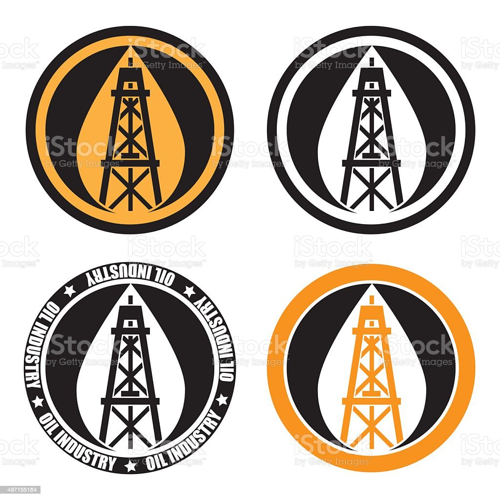 oil derrick logo stock vector art amp more images of 2015