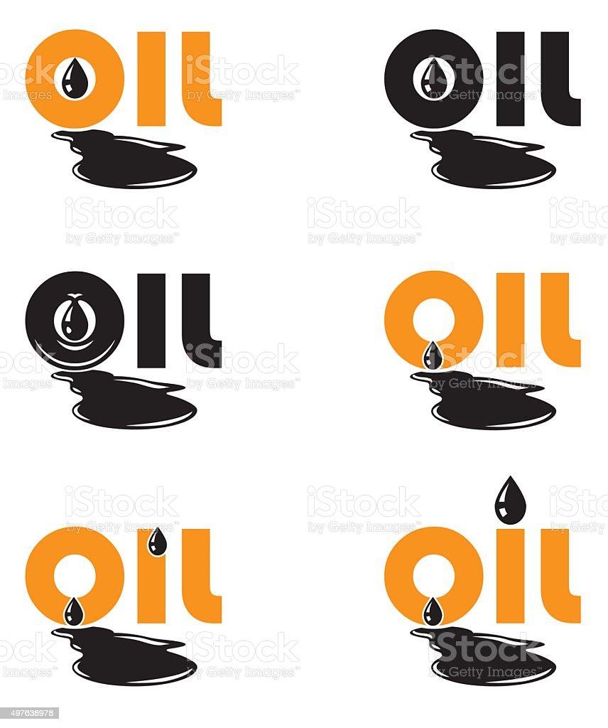 oil drop logo template vector art illustration