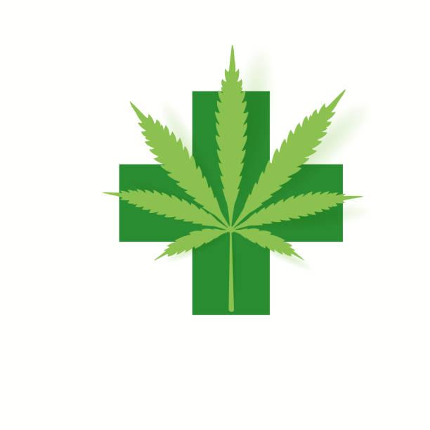Oil drop with a marijuana leaf Medical Cannabis oil vector art illustration