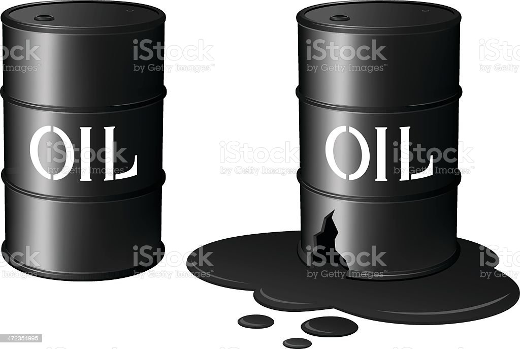 Oil Drums/Oil Spill royalty-free oil drumsoil spill stock vector art & more images of accidents and disasters
