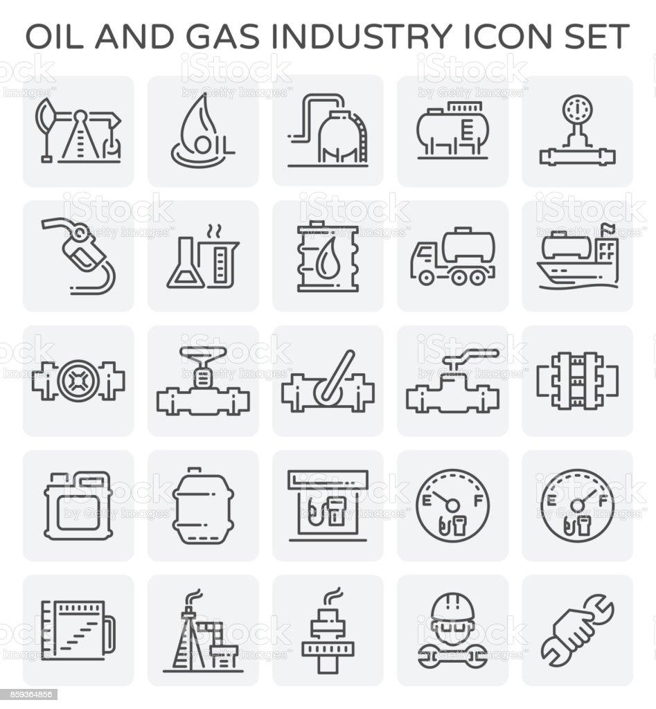 oil gas icon vector art illustration