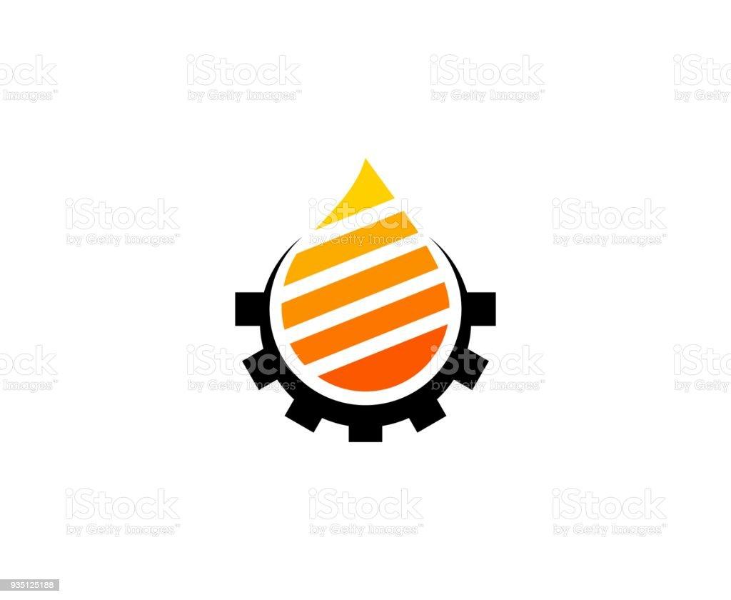Icono de aceite - ilustración de arte vectorial