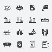 oil icons set.