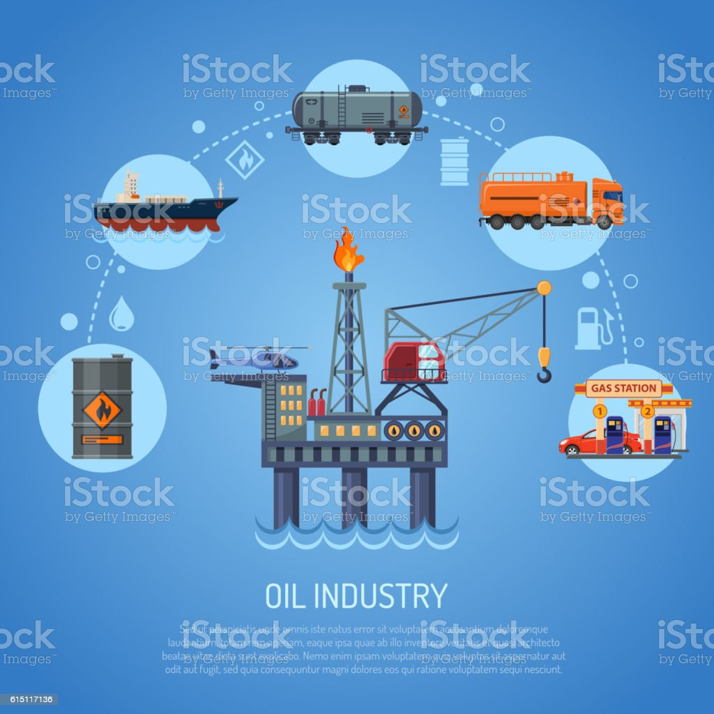 Oil industry Concept vector art illustration