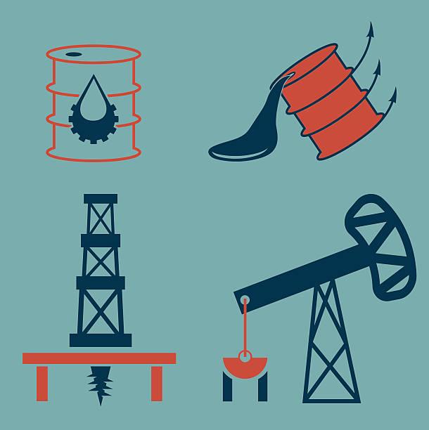 öl industrie elemente - fallrohr stock-grafiken, -clipart, -cartoons und -symbole