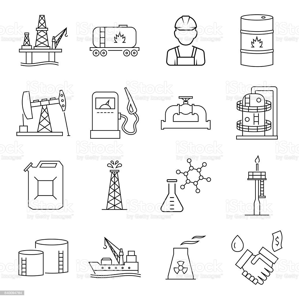 Oil industry gasoline processing symbols icons set stock vector oil industry gasoline processing symbols icons set royalty free oil industry gasoline processing symbols buycottarizona