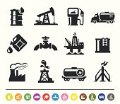 A set of 12 professional oil industry icons.