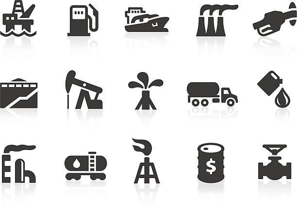 Oil Industry icons Simple oil industry related vector icons for your design and application. Files included: vector EPS, JPG, PNG. oil drum stock illustrations