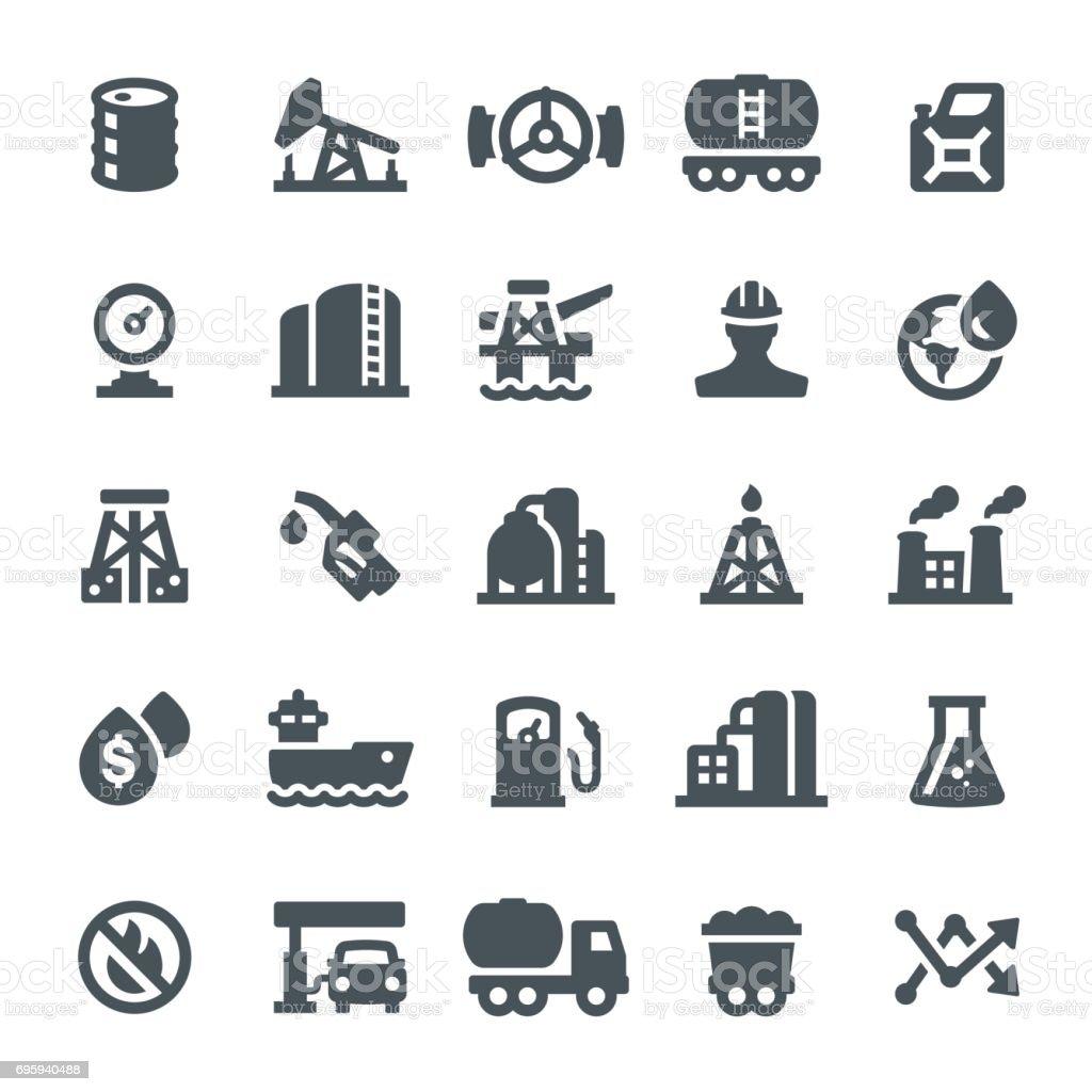 Oil Industry Icons vector art illustration