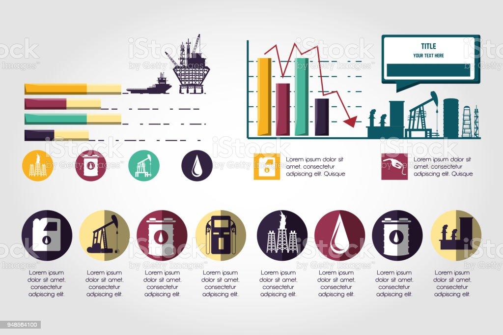 Öl Industrie Infografik Vorlage Stock Vektor Art und mehr Bilder von ...