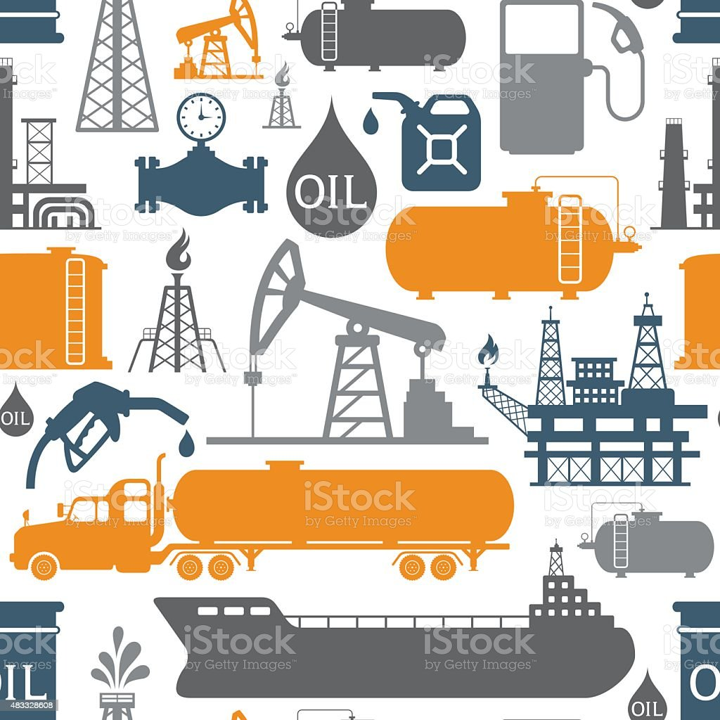 Oil Industry Pattern vector art illustration