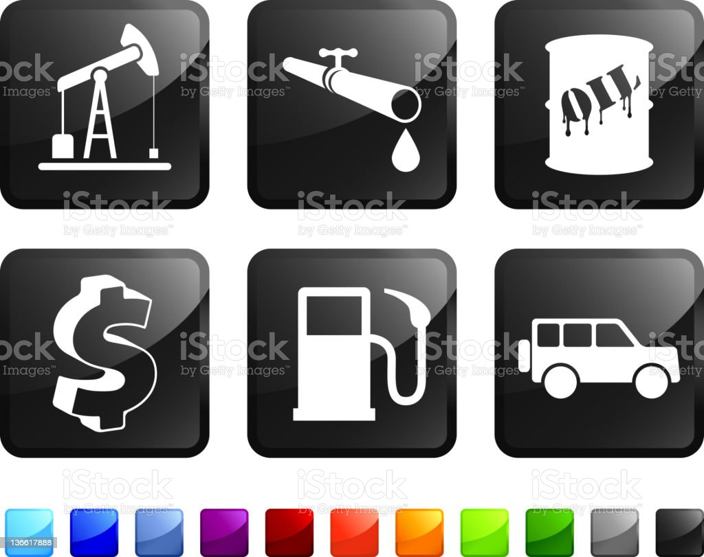 oil industry royalty free vector icon set stickers royalty-free stock vector art