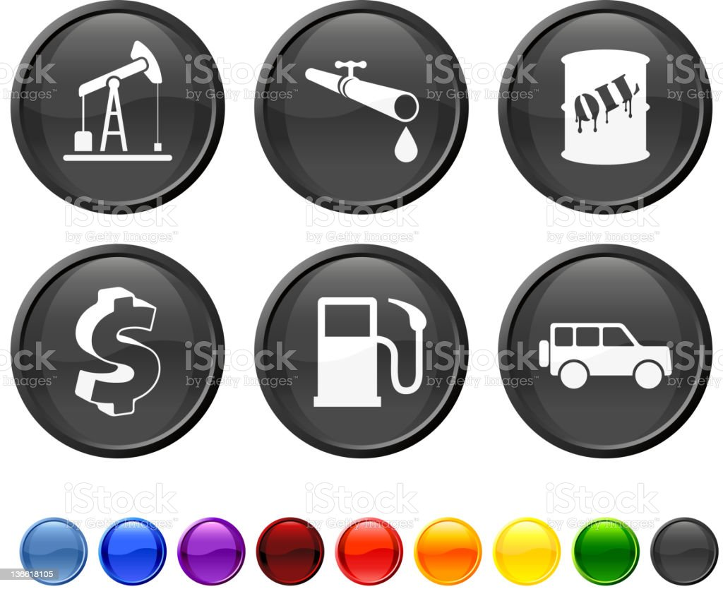 oil industry royalty free vector icon set royalty-free stock vector art