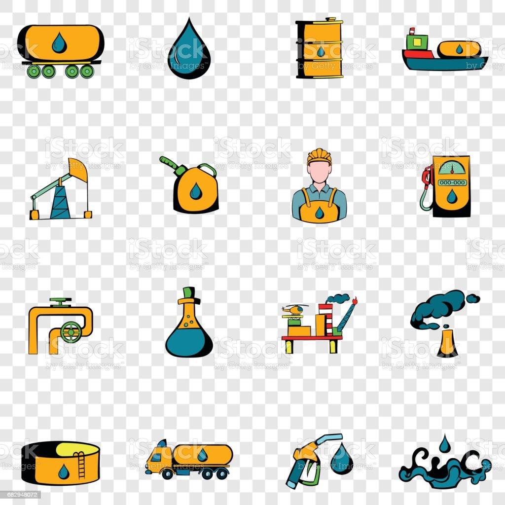 Industria petrolera set iconos ilustración de industria petrolera set iconos y más banco de imágenes de arreglar libre de derechos