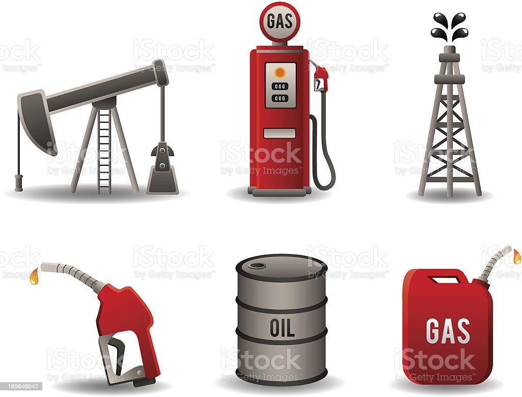 Oil Industry Set royalty-free stock vector art
