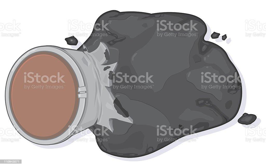 Oil Leak royalty-free stock vector art
