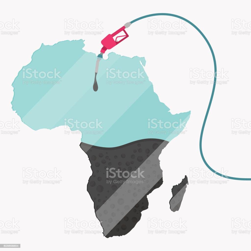 Oil of Africa vector art illustration