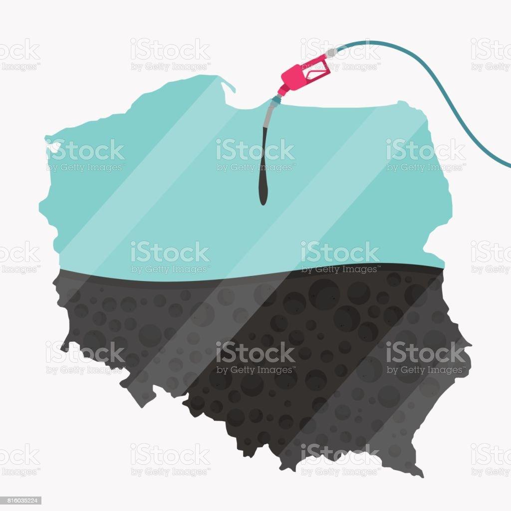 Oil of Poland vector art illustration