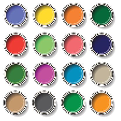 oil paint buckets