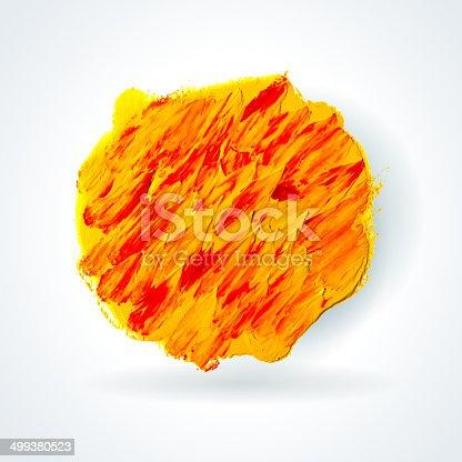 istock Oil paint stain. 499380523