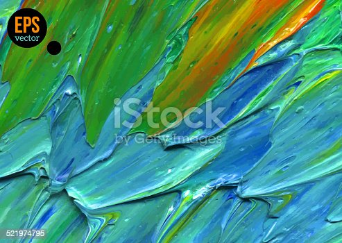 istock Oil painted background. Vector illustration. 521974795