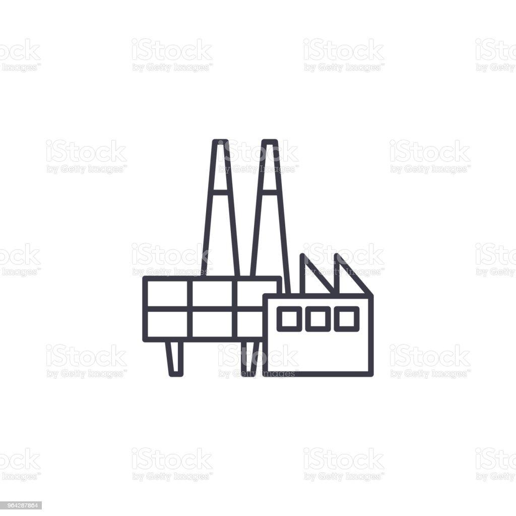 Ilustrao de conceito de cone linear do petrleo plataforma sinal conceito de cone linear do petrleo plataforma sinal do vetor do linha de plataforma de ccuart Gallery