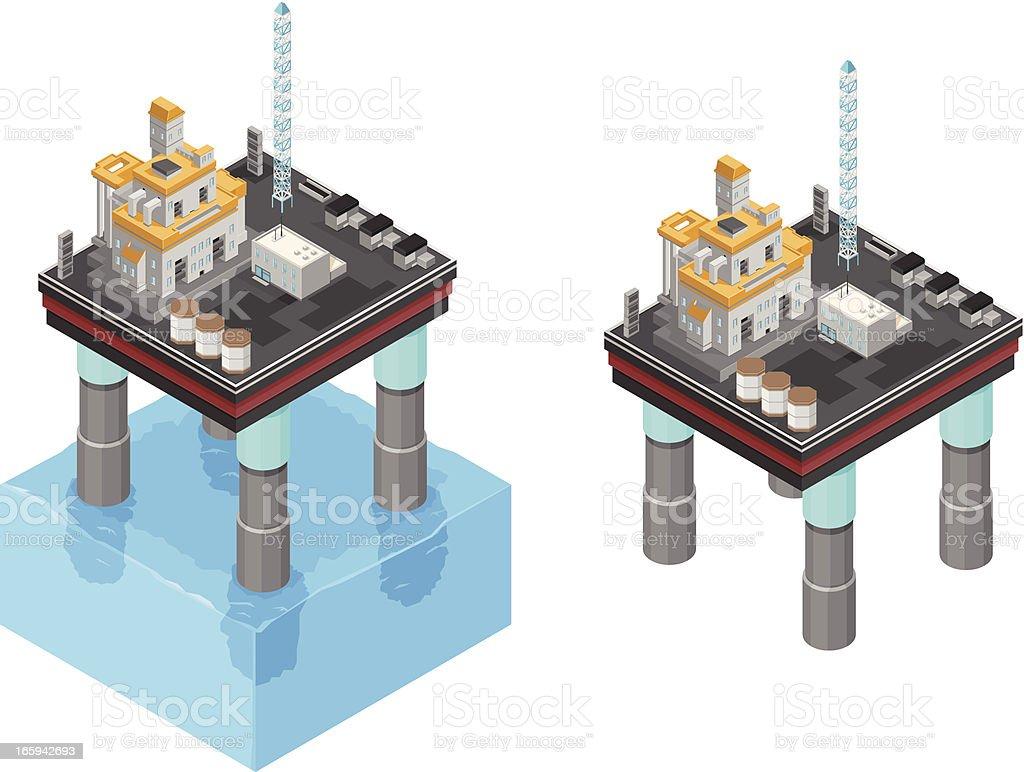 Oil Platform royalty-free stock vector art
