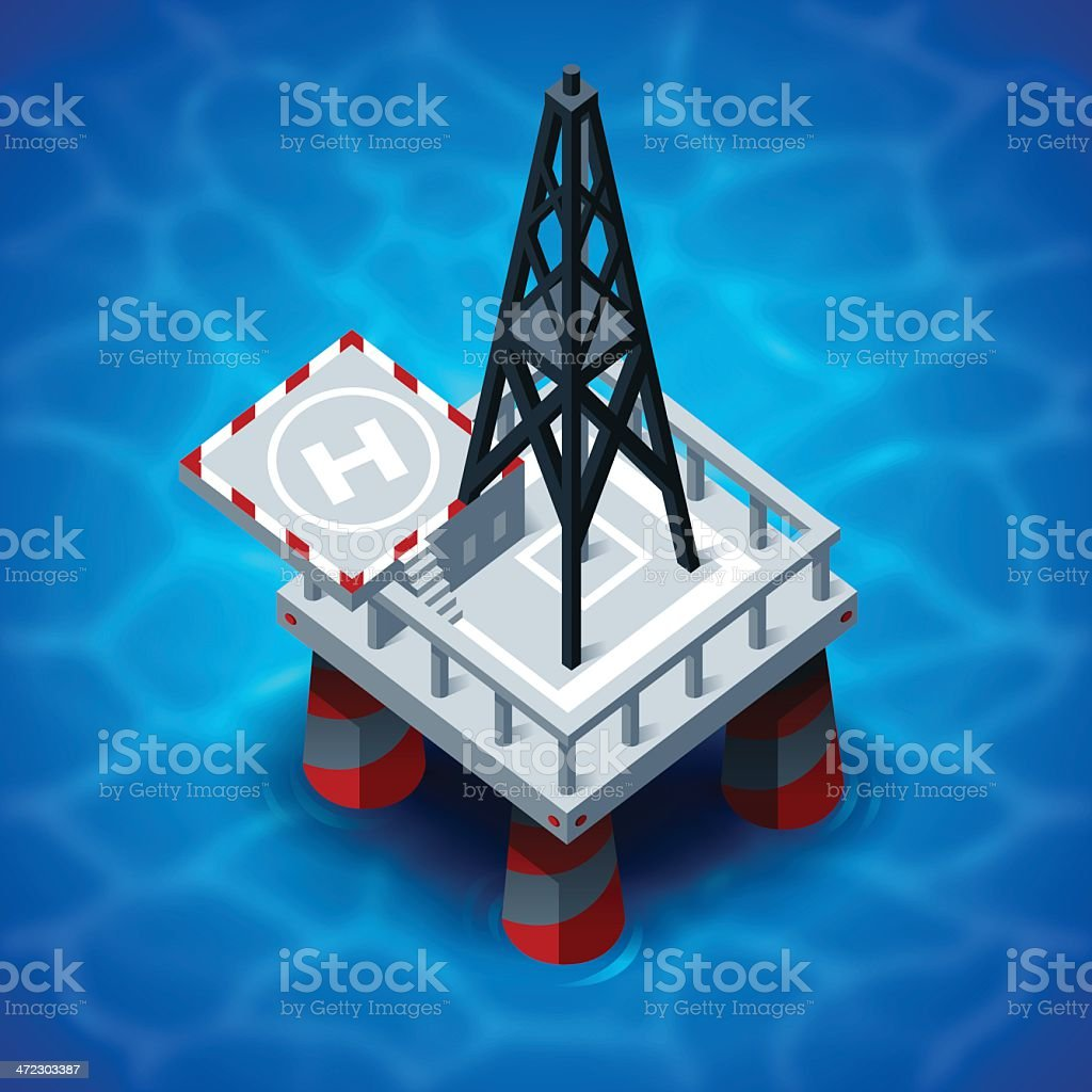 Oil Platform royalty-free oil platform stock vector art & more images of accidents and disasters