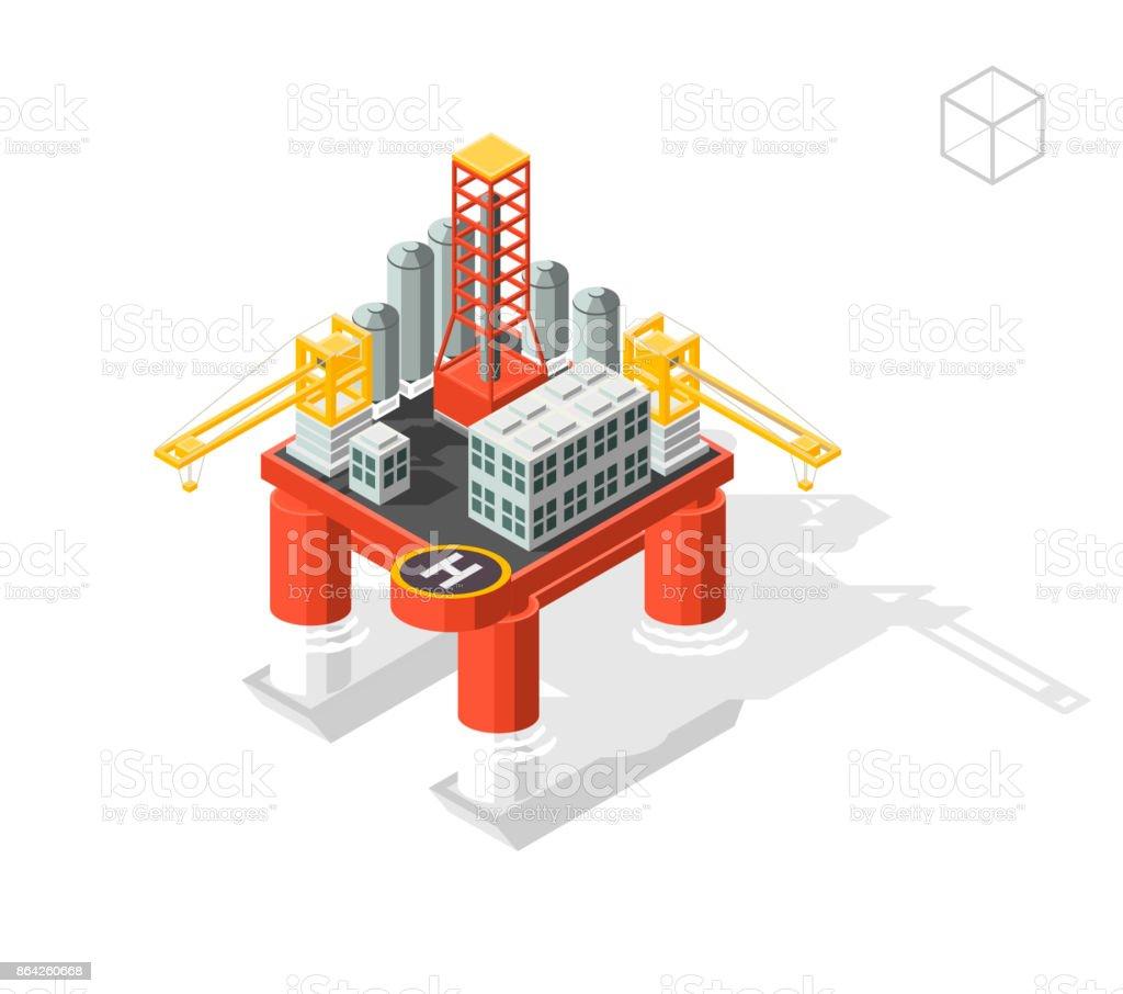 Oil Platform royalty-free oil platform stock vector art & more images of built structure