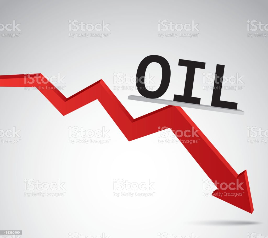 Oil price decline File format is EPS10.0.  2015 stock vector