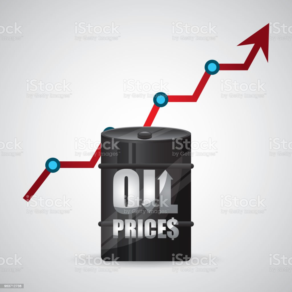 Oil Prices Stock Vector Art More Images Of Arrow Symbol 953712738