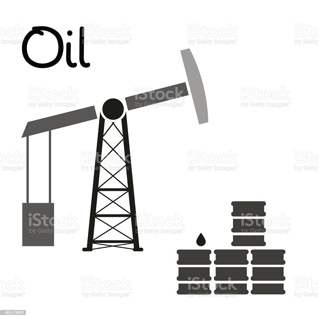 Oil production and oil well and barrels symbol eps10 stock vector crude oil currency drop liquid 2015 biocorpaavc Gallery