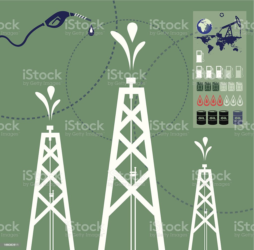 Oil Production and World royalty-free oil production and world stock vector art & more images of barrel